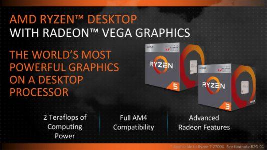 AMD APU : Ryzen 5 2400G e Ryzen 3 2200G i primi dati